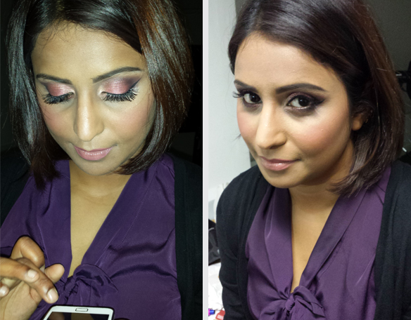 Make up: natural and purple look