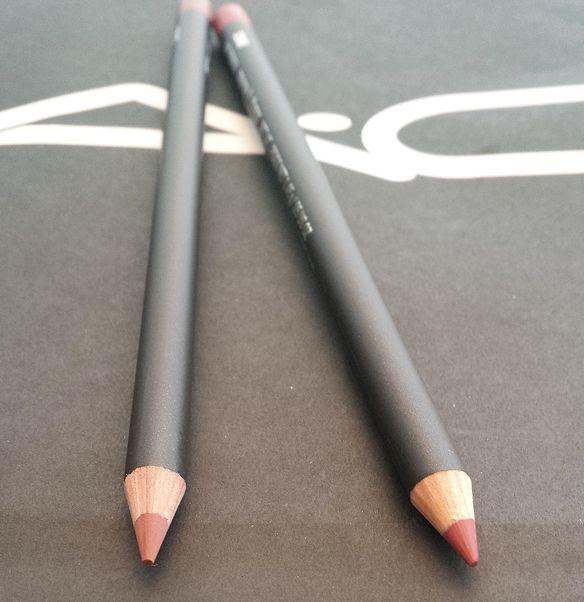 MAC lip liner Soar, Spice lip liner, MAC Brave lipstick, MAC Kinda Sexy Lipstick, Mac Viva Glam II, MAC Objects of affection lip gloss,