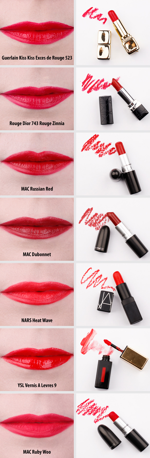 red lipstick collection