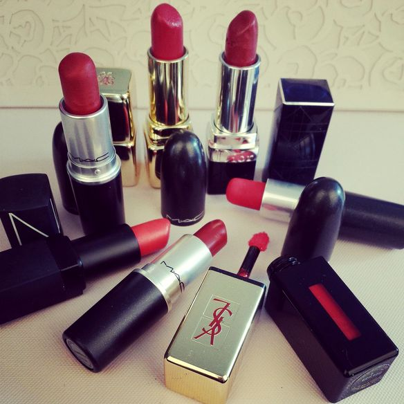 red lipstic collection