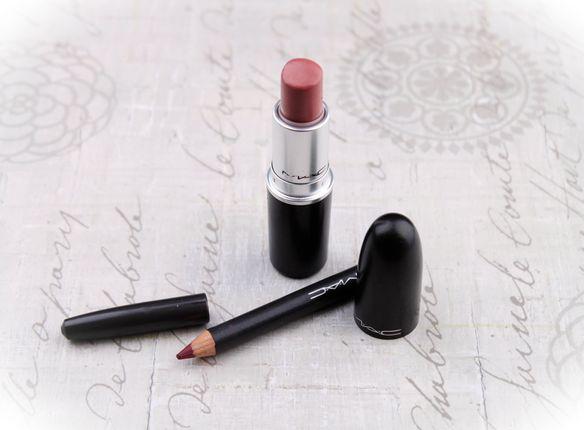 Mac Faux lipstick, Mac Half Red lip pencil