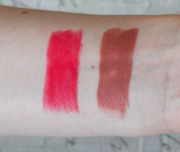 MAC Velvet Teddy and Relentlessly Red