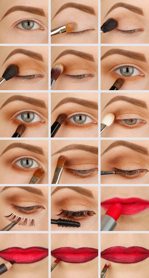 soft and dramatic eye makeup,how to do dramatic eye makeup, daytime eye makeup MAC relentlessly red, MAC nightmoth