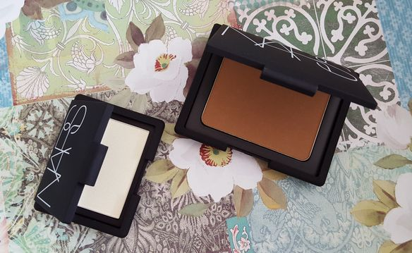 NARS Highlighting Blush Powder Albatross  Nars Bronzing Powder Laguna